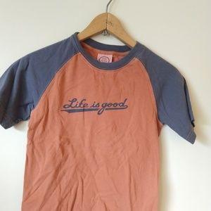 Life is Good orange shirt